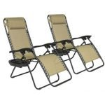 The Best Product Tan Zero Gravity Chair front-w500-h500
