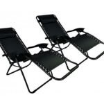 The Zero Gravity Black Lounge Patio Chairs side back-w500-h500